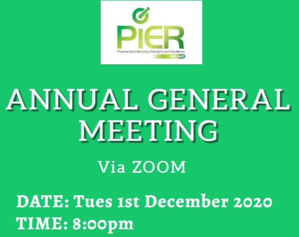 PIER AGM 1st Dec 2020