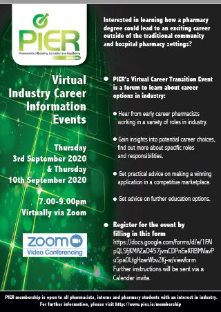 PIER Virtual Career infomation events